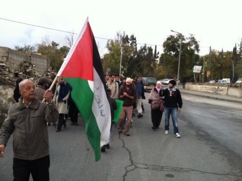 Street protest in East Jerusalem